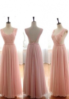 Hot-selling A-line Sweetheart Ruched Long Pink Prom Dresses/Evening Dresses CHPD-7004