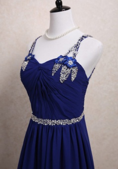 Simple Dress Hot-selling A-line Sweetheart Beading Royal Blue Long Prom Dresses/Evening Dresses CHPD-7015