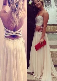 Simple-dress Handmade Strapless Princess Slit 2015 Prom Dresses/Evening Dresses/Party Dresses CHED-70686