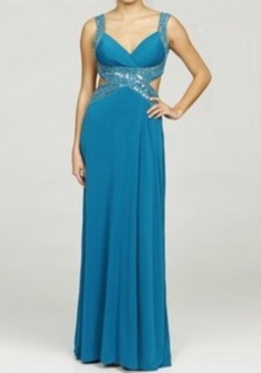 Elegant Mermaid Sweetheart Ruched Floor-length Chiffon Beading Cross Back Prom Dress