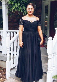 Simple Off The Shoulder Short Sleeves With Beading Chiffon Long Navy Blue Prom Dresses Evening Gowns CHPD-70915