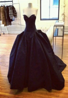 Modern Sweetheart Black Ball Gown Prom Dress Formal Evening Gowns SAED-70950