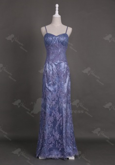 Gorgeous Sweetheart Floor-Length Sheath Lavender Homecoming Prom Dress with Appliques Beaded