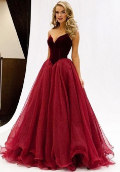 A-Line V-Neck Floor-Length Sleeveless Prom Dress with Ruched