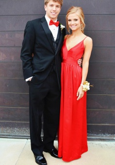 A-Line V-Neck Sleeveless Floor-Length Backless Red Prom Dress with Ruched