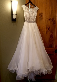Delicate Backless Floor-Length Organza Prom Dress with Lace Top Beading Waist