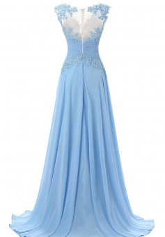 Charming A-Line Bateau Sleeveless Sequins Sweep Train Prom Dress with Beading
