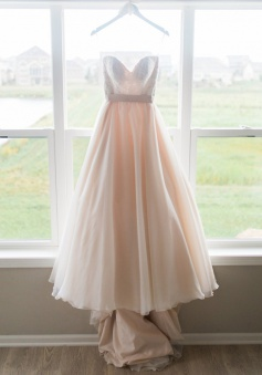 A-Line Sweetheart Sleeveless High-Low Pearl Pink Sash Prom Dress with Lace