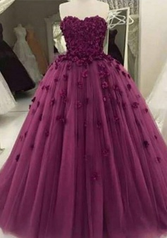 Charming Sweetheart Floor-Length Prom Dress with Patchwork