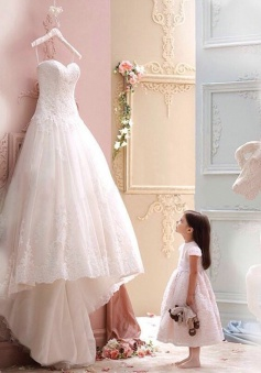 Elegant Sweetheart A-line Long White Lace Wedding Dress /Bridal Gown