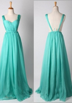 New Arrival Blue Sweetheart A Line Long Prom Dress CHPD-80048