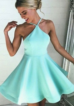 Sexy A-line Mint Green Short Homecoming Dress/Cocktail Dress