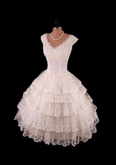 Nectarean Scalloped-Edge Cap Sleeves Mid-Calf Light Champagne Lace Homecoming Dress