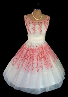 Nectarean Bateau Sleeveless Mid-Calf White Homecoming Dress Printed Red Pattern