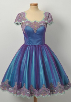 A-Line Square Knee-Length Cap Sleeves Royal Blue Taffeta Homecoming Dress with Appliques