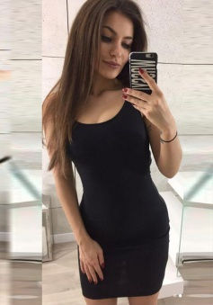 Bodycon Scoop Cut Out Back Spandex Little Black Dress