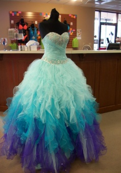 Simple Dress Handmade Sweetheart Tulle Ball Gown Quinceanera Dresses/Sweet 16 Dresses  TUQD-7306