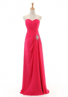 Fashion Sheath/Column Sweetheart Floor-length Chiffon Cocktail Dresses CHDT100007