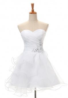 Fashion A-line Sweetheart Short/Mini Satin Cocktail Dresses SADT100065