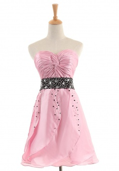New Arrival A-line Sweetheart Short/Mini Satin Cocktail Dresses SADT100093