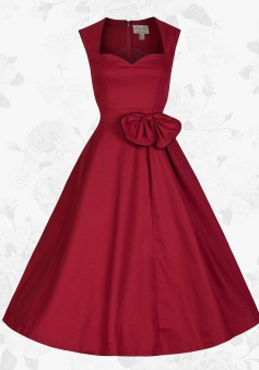 Red Retro Sweetheart 50s 60s Style Pin up Rockabilly Party Swing Prom Dress