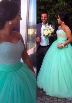 Simple-dress Elegant Sweetheart Ball Gown 2015 Prom Dresses/ Qinceanera Dresses TUQD-70730
