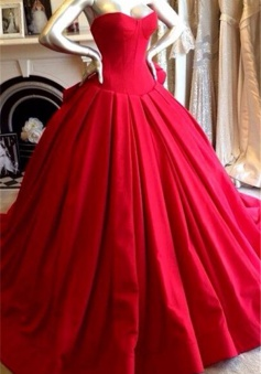 Red Sweetheart Charming Prom Dress Fashional Glorious 2018 Wedding Dress