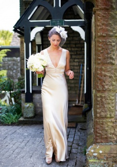 Sleeveless Summer Empire V-Neck Floor-Length Wedding Dresses