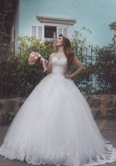Gorgeous Sweeetheart Ball Gown Princess Dresses New Arrival Lace Applique Long Bridal Gowns
