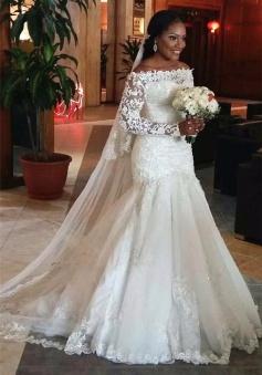 ea77430fa07 Wedding Dresses. 54 results. 74%OFF. 2018 Lace Long Sleeve Mermaid ...