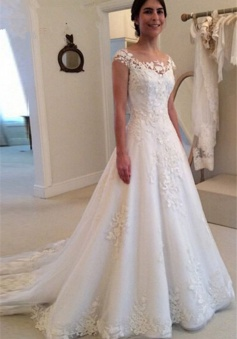 Lace Tulle Bridal Dresses with Bottoms