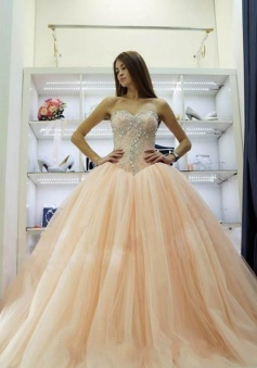 Pretty Sweetheart Princess Ball Gowns Crystals Beading 2018 Wedding Dresses