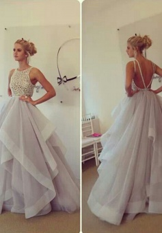 Latest Ruffles Organza Wedding Dress Lace Backless Long Formal Occasion Dresses