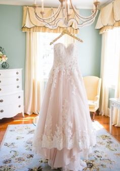 Cute Pink Sweetheart Lace Wedding Dress Latest Custom Made Plus Size Bridal Gown