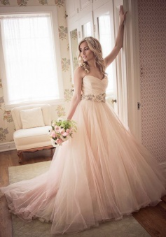 Tulle Sweetheart Ball Gown Princess Bride Dress Flowers Belt Floor Length 2018 Wedding Dresses