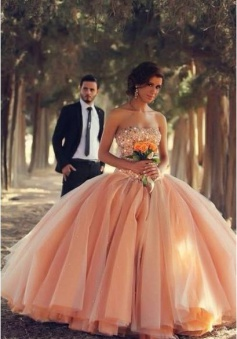 Pink Tulle Ball Gown Wedding Dresses 2018 Sweetheart Vestidos De Novia Bridal Gowns With Rhinestones