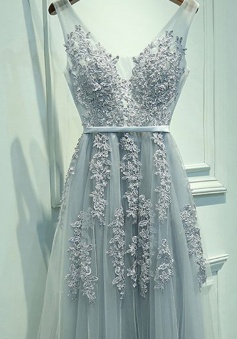 8bbb71dffe6de Lace Prom Dresses. 261 results. 67%OFF. A-Line Princess Sleeveless V-neck  ...
