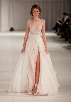 Beauty Floor-length Scoop Sleeveless Short Sleeves Long Prom Dresses