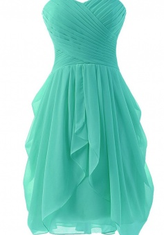 Mini Front High Low Bridesmaid Dress Short Prom Dress