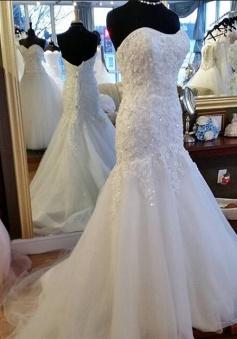 Sweetheart Mermaid Beading Lace Wedding Dress 2018