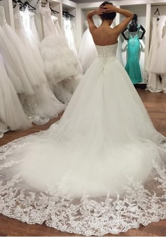 lace sweetheart wedding dress ball gowns 2017 real sample custom made