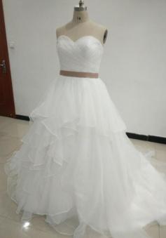 Simple Sweetheart Beach Mermaid Wedding Dress