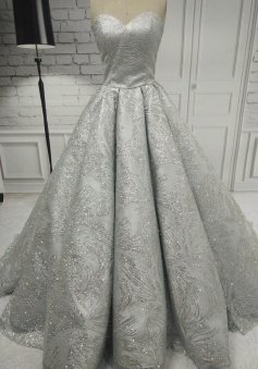 Sexy Sweetheart Beading Stain Prom Dress Long Party Dress