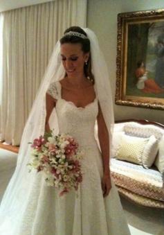 Simple Lace Wedding with Applique Edge Princess Wedding Veils