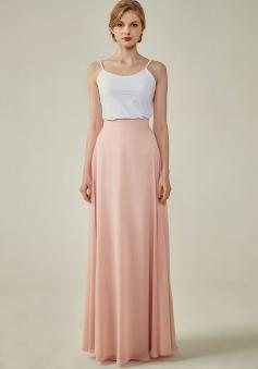 Simple Chiffon Bridesmaid Skirt Long