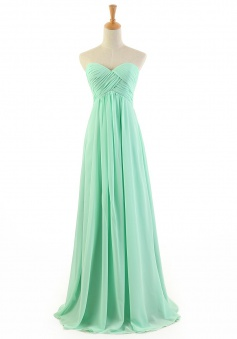 New Arrival Sheath/Column Sweetheart Floor-length Chiffon Prom Dress