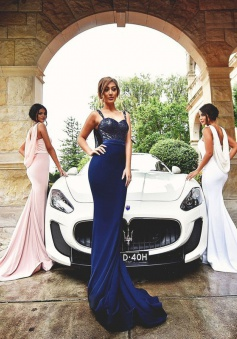Long Spaghetti  Stunning  Prom/ Bridesmaid  Dresses With Shawl