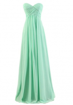 A-Line Floor-Length Sweetheart Empire Bridesmaid Dresses With Ruched