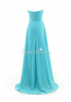 Hot-selling A-line Sweetheart Floor-Length Chiffon Beading Bridesmaid Dress