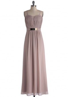 Fashion Spaghetti Straps A-line Chiffon Bridesmaid Dress